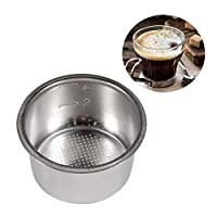 Pichidr-JP コーヒーバスケットストレーナー 51mm コーヒーフィルター ドリッパー カフェオール コーヒードリップ コーヒードリッパー ステンレスフィルター(四人分)