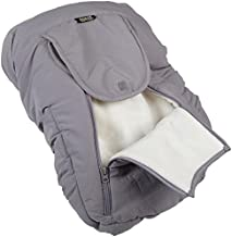 Jolly Jumper Arctic Sneak-A-Peek Car Seat Cover With Attached Blanket - Grey