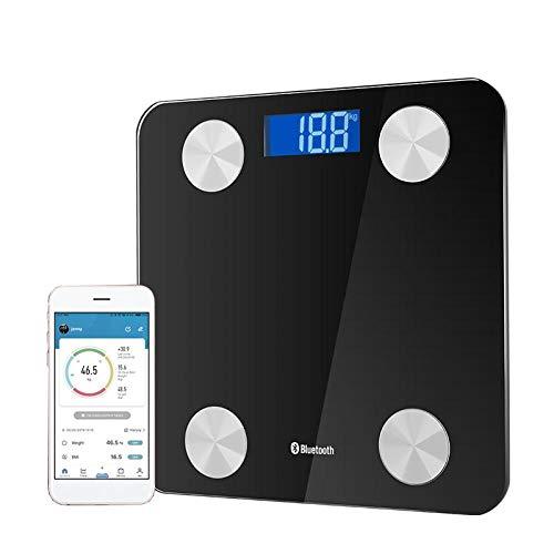 Bluetooth lichaamsvetweegschaal Slimme elektronische weegschaal Lcd-scherm Glazen vloer Lichaamsgewicht APP Weegschaal KG/LB/ST