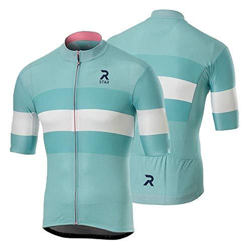 R Star Original Bicycle Cycling Jersey MTB Road Bike Riding Shirt Mountain Bike Outdoor Cycling Clothes Riding Apparel (XS,Sky Blue)