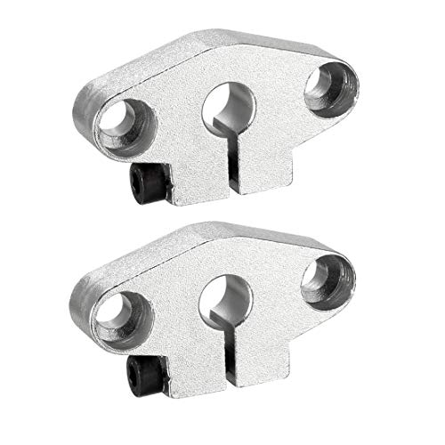 uxcell 2PCS SHF8 Aluminum Linear Motion Rail Clamping Rod Rail Guide Support for 8mm Diameter Shaft