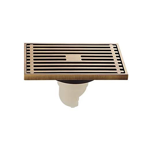 EXCLVEA Bodenablauf Alle Kupfer Antik Duscheck Bodenablauf Aus Kunststoff Kern Side Seal Wasser Große Verdrängung Wasser für Garten Outdoor Küche (Color : Gold, Size : ONE Size)