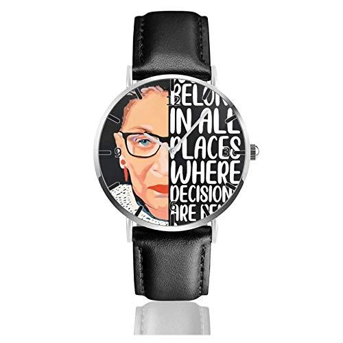 Los niños Miran Reloj Pulsera niño Historieta 3D Impermeable Ruth Bader Ginsburg Pantalla Redonda 38mm Batería de botón Poder Unisex Watch