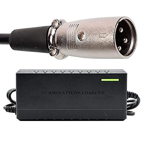 joyvio Cargador de batería de 24 V y 5 A, cargador lento, cargador de batería con conector XLR de 3 pines para scooter, silla de ruedas, coche, motocicleta, bicicleta eléctrica, cortacésped, barco mar