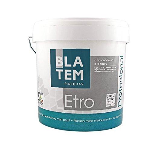 ETRO PINTURA PLASTICA BLANCO MATE 15 L.