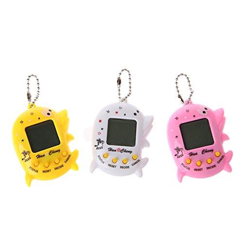 Autone Spielzeug für Haustiere, digital, mit LCD-Display, Delfin-Form, elektronisch, mit Schlüsselanhänger, 1 Stück