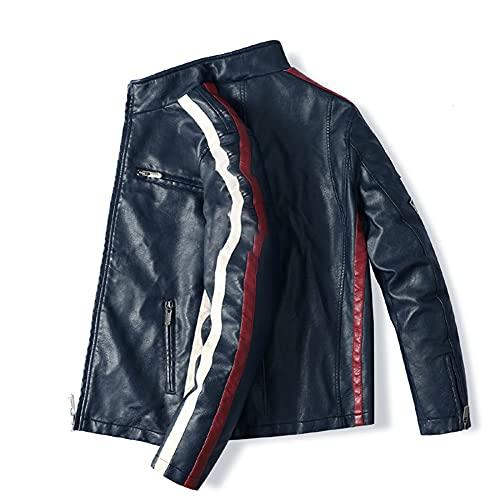 ZDSKSH Chaqueta de motocicleta para hombre, de piel premium, para hombre, suave y transpirable, para hombre