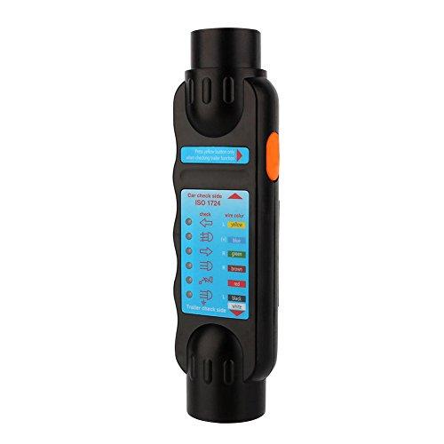 Fydun Tester per Circuiti Elettrici Auto Misuratore Corrente Presa Elettrica 7 Pin 12V Attrezzo Diagnostico Tester di Connessione per Commerciale/Semirimorchio/Rimorchio Towing Trailer