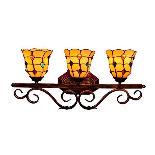 MX Bohemia Tiffany Applique-Artigianato Vetrate Perle di Cristallo Rosso Applique da Parete Pastorale Stile mediterraneo Camera da Letto Soggiorno Lampade da Comodino