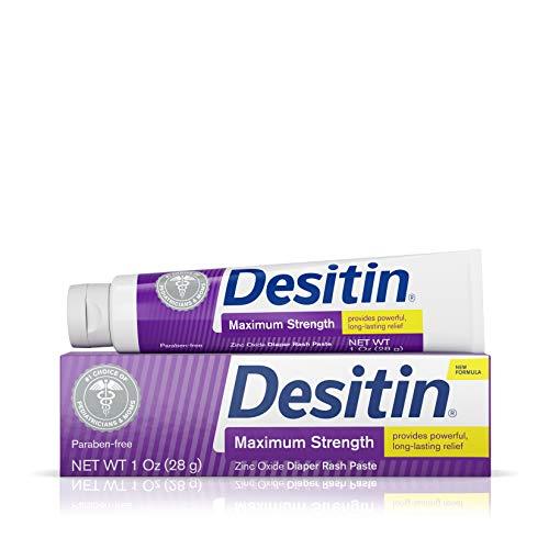 Desitin Maximum Strength Baby Diaper Rash Cream with 40% Zinc Oxide, Travel Size, 1 oz (Pack of 6)