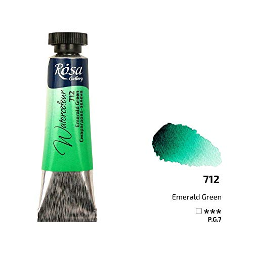 Professionelle Aquarellfarbe, 10 ml Tuben, Rosengalerie, Künstlerqualität smaragdgrün
