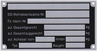 3 x blanco typeplaatje aanhangertypeplaatje neutrale hanger vers. 3.