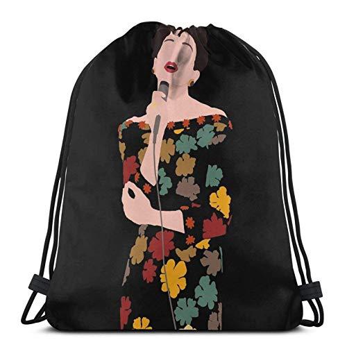 Renée Zellweger As Judy Garland Drstring Backpack Gym Sack Pack Solid Cinch Pack Sinch Sack Sport String Bag with Pocket