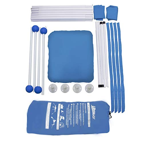 UBOWAY Beach Sunshade Tent with Sandbag Anchors and Canopy for Beach, Picnic, Camping (9 x 9 ft Blue)