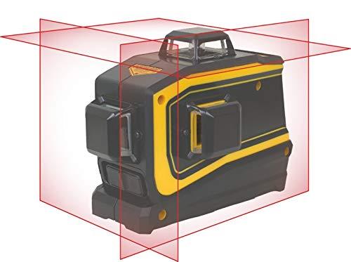 rabo SpectraPrecision LT56 selbstnivellierender Linienlaser, 1 Horizontal- & 2 Vertikallinien je 360°, Li-Ionen Akku, Ladegerät, Wand-, Decken- und Magnethalterung mit 5/8