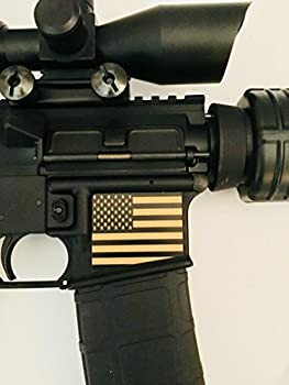 Tejas Products AR-15 Lower Magwell Customized Decal Sticker - Black - American Flag