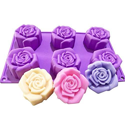 JasCherry Forma de Rosa Moldes de Silicone - Premium Antiadherente Moldes para Tartas, Repostería, Bizcocho, Gelatina, Jabón, Muffin, Pudín #2