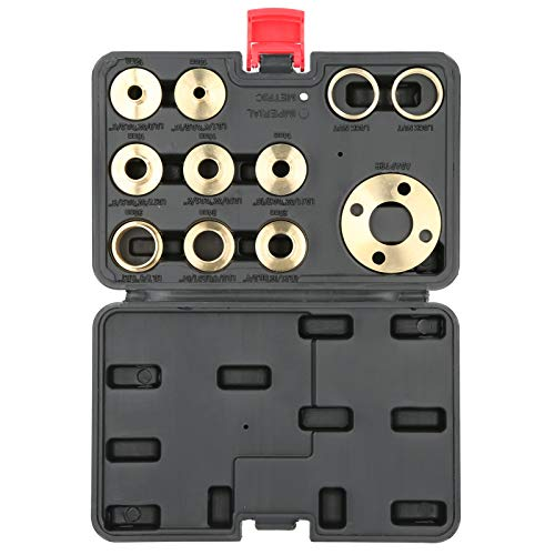 Plantilla de guía de 8 tamaños Router Durable Router Parts Brass 11Pcs/Set para trabajo de corte