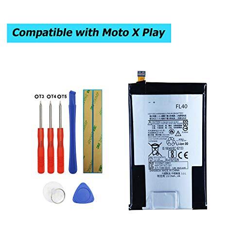 Upplus FL40 Ersatz Akku Kompatibel Für Motorola Droid Maxx 2,Moto X 3a,Moto X Play,XT1560,XT1561,XT1562,XT1563,XT1565 with Toolkit