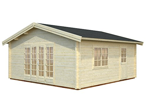 *Palmako Blockbohlenhaus Irene 27,7 70 mm natur Isolierglas*