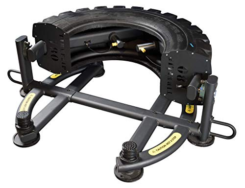 The Abs Company TireFlip 180 - Original and Patented Tire Flipping Solution, Safe and Space Saving Design with Expandable Training Range