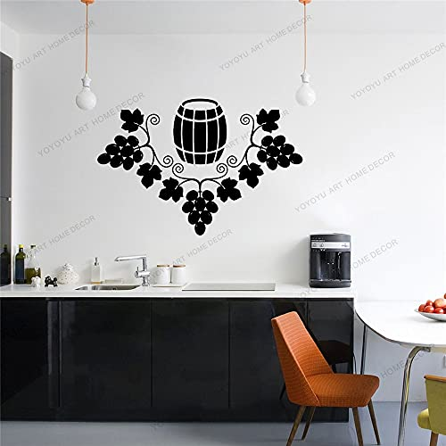 Zdklfm69 Adhesivos Pared Pegatinas de Pared Copa de Vino Vinilo Arte calcomanía hogar Cocina decoración Bar Pub Club Regalo extraíble 57x84cm