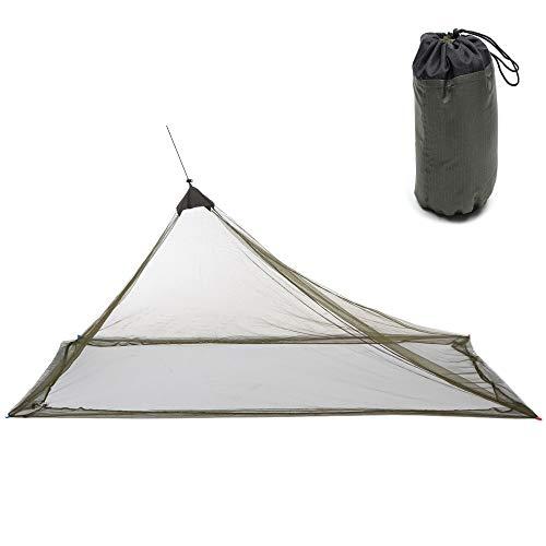 Mosquitera, tamaño individual y doble, suministros para exteriores Triángulo para acampar Mosquitera portátil Tienda antideslizante para viajes Tienda de ocio Estilo de pirámide colgante para interior