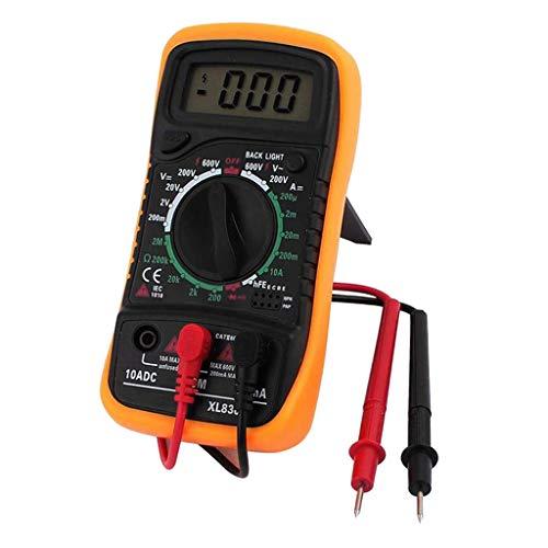 Baosity Multimetro Digitale AC DC Volt Ohm Amp Meter Tester di Tensione - Giallo