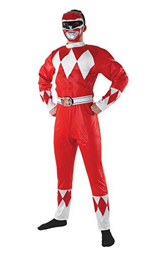 Rubie's Officieel Power Ranger pak voor volwassenen, kostuum