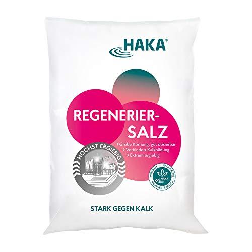 HAKA Regeneriersalz l 2 kg l Grobe Körnung, gut dosierbar l Verhindert Kalkbildung l Extrem ergiebig