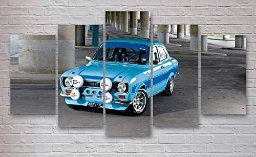 JIANGDL Impresiones en Lienzo 5 Piezas de Arte de Pared impresión en Lienzo Pintura decoración del hogar 5 Paneles Cuadros de Lienzo estirado y Obra de Arte Mural Ford Escort Cosworth