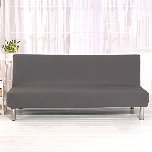 YXLJC Funda Sofa Cama, Universales Plegable Funda De Sofá Futón Couch Clic Clac Cubre Sofá Sin Brazos (Gris,Large)