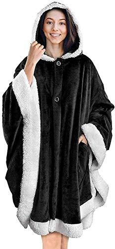LXWLXDF Coperta per Il Tempo Libero a casa, Wearable Blanket Oversize con Cappuccio Felpa Coperta, Caldo Accogliente Wrap Maniche Coperta del tiro con Maniche e Tasca for Adulti Teens Donna Uomo