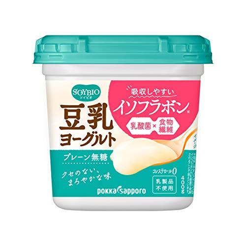 ポッカサッポロ ソイビオ豆乳ヨーグルト プレーン無糖(400g×6コ)クール便