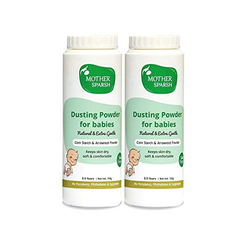 Mother Sparsh Talc-Free Natural Dusting Powder for Babies, 100 g (Pack of 2)