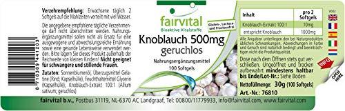 Knoblauch geruchlos 500mg 100 Softgels - 2