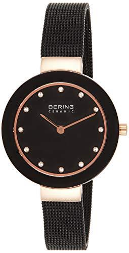 BERING Reloj Analógico para Mujer de Cuarzo con Correa en Acero Inoxidable 11429-166