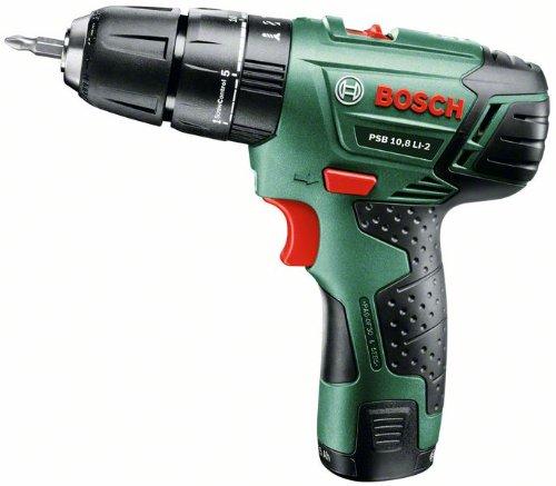 Bosch PSB 10,8 Li 2- Taladro atornillador percutor (10,8 V) color verde