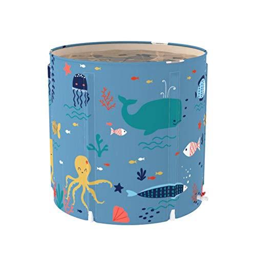 Happt Badewanne,70×70cm Bathtub Folding Wannenbad Fass Erwachsenen Wanne Aufblasbare Badewanne,Dicker Plastikeimer Badewanne Mit Isolationsbaumwoll Und Wassergefülltes Sitzkissen