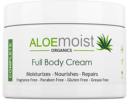 Natural Body & Face Cream Moisturizer - Non Greasy, No Fragrance -...