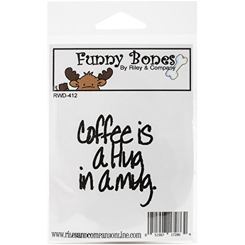 Riley & Compagnie Funny Bones en Caoutchouc Tampon étirable 2 x 5,7 cm, café est Un câlin