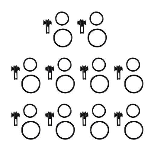 10 STÜCKE Angelrute Haken Keepers Köder Halter Lockt Jig Haken für Angelrute Angelzubehör (Schwarz 2)