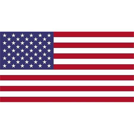 Kiwistar Autoaufkleber Sticker Fahne Flagge Aufkleber 10cm Vereinigte Staaten Laminiert Sehr Lange Haltbar Auto