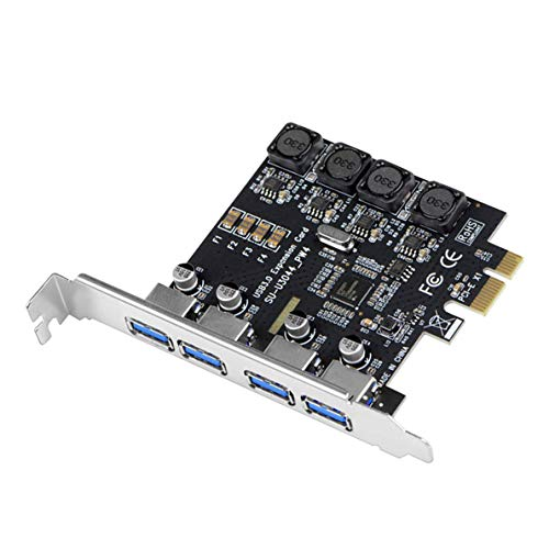IDEAPRO USB3.0増設ボード インターフェースボード 4ポート補助電源不要 PCI-Eカード PCI Express x1 5Gbps高速伝送