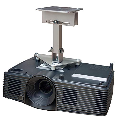 PCMD, LLC. Projector Ceiling Mount Compatible with BenQ CinePrime HT3550 TK810 TK850 W2700 with Lateral Shift Coupling (8-Inch Extension)