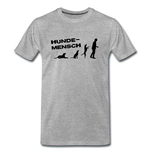 Martin Rütter Hundemensch Männer Premium T-Shirt, XL, Grau meliert