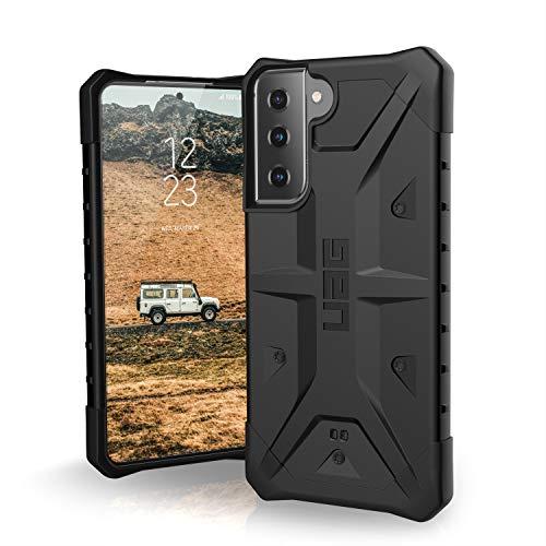 "Urban Armor Gear Pathfinder Hülle Samsung Galaxy S21 5G (6,2\"" Zoll) Schutzhülle (Wireless Charging kompatibel, Handyhülle nach Militärstandard, Ultra Slim Bumper) - schwarz"