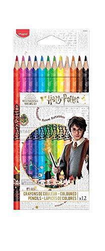 Maped - 12 Crayons de Couleur Harry Potter - Idéal Fournitures Rentrée Scolaire - Pochette Carton 832053