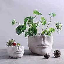 Face Planter - Succulent Plant Flower Pot Silicone Mold Face Sculpture Shaped DIY Gypsum Pot Mould