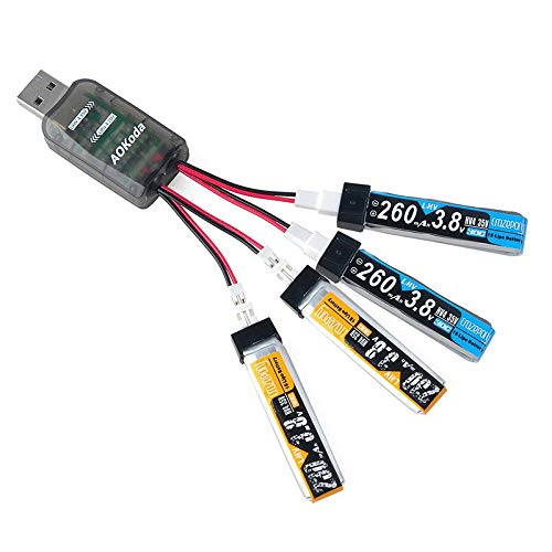 HEASEN Newest 4 in 1 AOKoda CX405 4CH Multi Micro USB Battery Charger for 1S Lipo LiHV Battery for RC Helicopter Charging Spare Parts